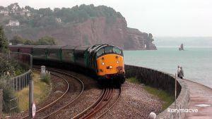 Direct Rail Services 37601 and 37603 at Teignmouth by The-Transport-Guild