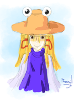 A portrait of Suwako by Merengil