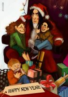HP: New Year with Snape by rotten-vermillion
