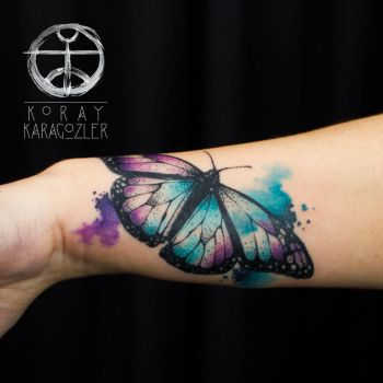 Watercolor Abstract Butterfly by koraykaragozler