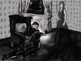 The Raven by E. A. Poe by dracontologe