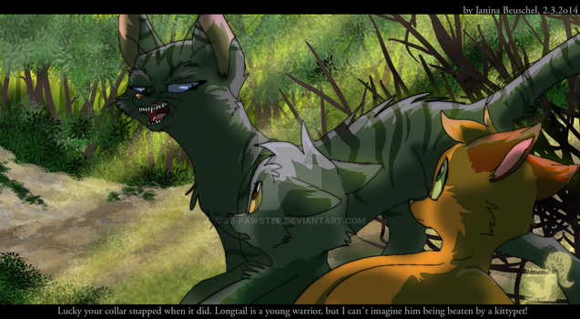 Into the Wild- Darkstripe neither young nor pretty by JB-Pawstep