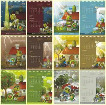 TALOE Calendar '09 by dr4g0nw1ngs
