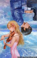 your lie in april by baimonart