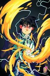 Roy Mustang from Full Metal Alchemist by yonson-cb