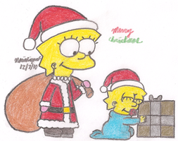 Santa Lisa by MarioSimpson1