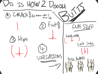 [How To Draw] Butts! by Iatefailure