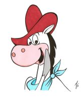 Quick Draw McGraw color by zombiegoon