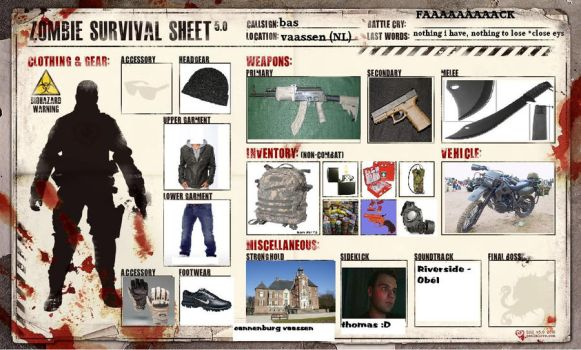 zombie survival sheet 5.0 by dutchyEDD