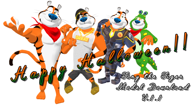 Tony the Tiger MMD model Download [V.1.1] by Pikadude31451