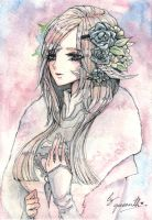 Watercolor Commission : Final Fantasy XIV by Queenth