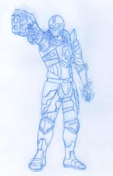 Shepard pencil sketch for a cover project by animemagix