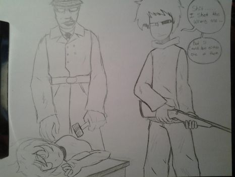 Unsuccessful Assassination. (Not Colored) by wkeeble12