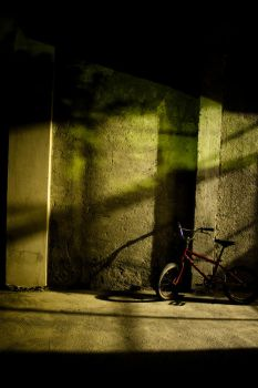 The bike at the night by crazthonfry