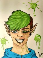 Antisepticeye (infected) by wolf-karpova