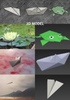 Origami 3d files by Matylly