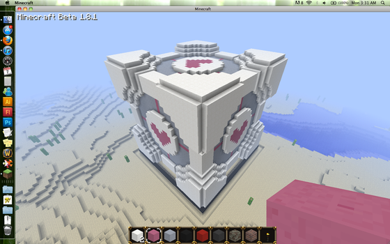 Minecraft Companion Cube by EP-380