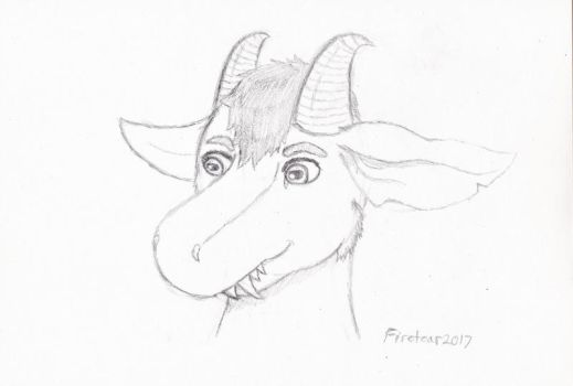 Dragoat sketch commission by Firetear501