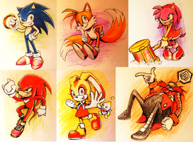 Sonic party by HylianGuardians