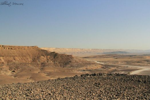 Walking inside the crater 2 by ShlomitMessica
