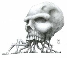 Walking skull by Morbidmic