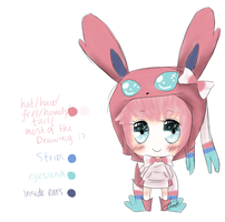 Sweetheart the Sylveon Gijinka by TheTrueSurvivor