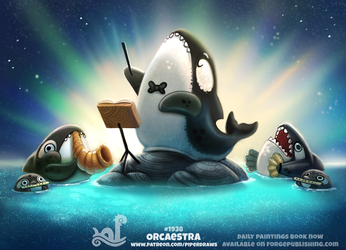 Daily Paint 1938# Orcaestra by Cryptid-Creations