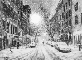 Snow in New York by kinobuta