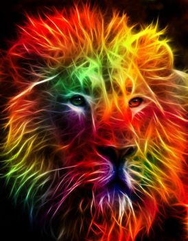 Fractal Lion by MiniMoo64