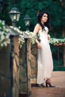 DieNessel Stock. White Dress by DieNessel