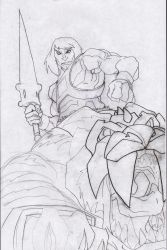 He Man and Battle Cat by 5000WATTS
