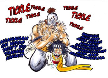 El Fuerte vs Makoto ( Tickle Fight ) by Gladiatore89