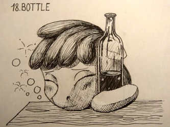 [Inktober] Day 18: Bottle by Sa1ntMax