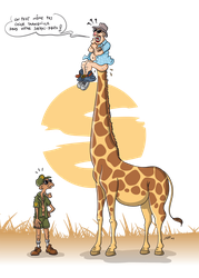 Girafe curieuse by jypdesign