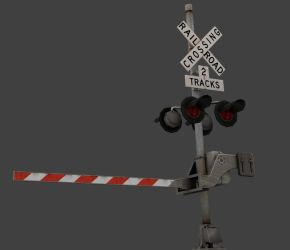 Railroad Crossing Signal by ToTac