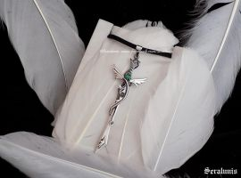 'Elven sword', sterling silver pendant FOR SALE by seralune