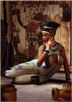 Nefertiti, Queen of Egypt by K-raven