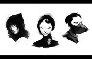 Huntress Head's by HowlSeage