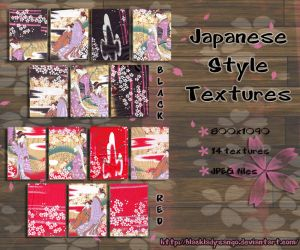 Japanese textures by BlackLadySango