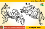 Set-2 Hand Drawn Floral Brush by Stockgraphicdesigns