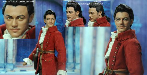 Doll Repaint Luke Evans Beauty and Beast Gaston by noeling