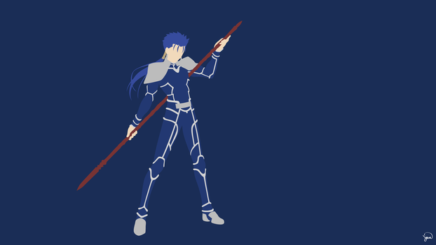 Lancer (Fate/Stay Night) Minimalist Wallpaper by greenmapple17