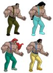 Mike Haggar reimagined as DISNEY PRINCESSES by ExMile