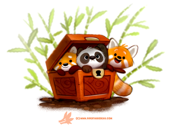 Daily Paint #1264. Pandara's Box by Cryptid-Creations