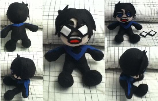Nightwing Plushie by Zmagicstorm