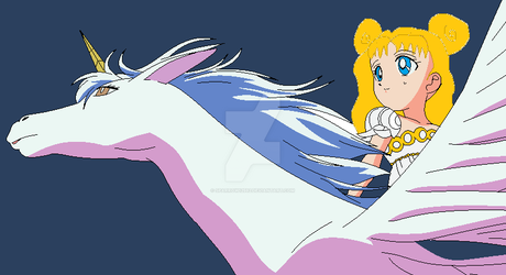Younger Olivia Riding on Pegasus by Sparrow12592