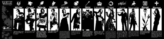 Vampire: The Masquerade Clans by racca