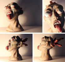 Exploding Zombie Head by spulunk