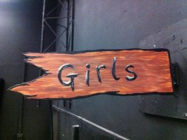 'Girls' Sign for Straight Camp by tubanome