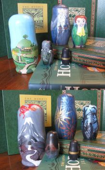 The Hobbit - Matryoshka Dolls2 by Charis